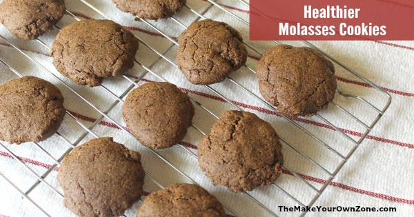 Cookies made with two healthy sweeteners, date sugar and molasses