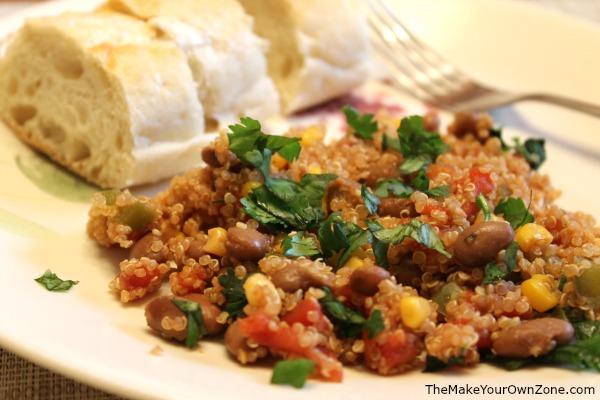 Recipe for mexican quinoa