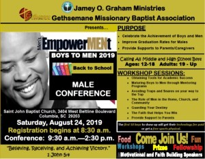 Boys 2 Men Back to School Male Conference @ St. John Baptist Church
