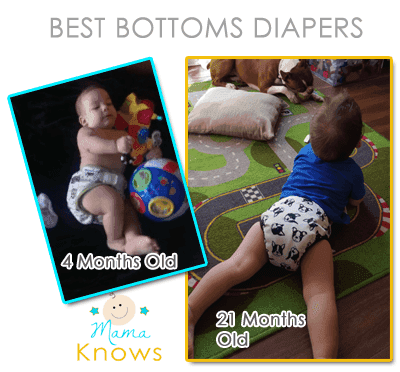 These Dad Approved Best Bottoms Diapers fit From Infant to Toddler!