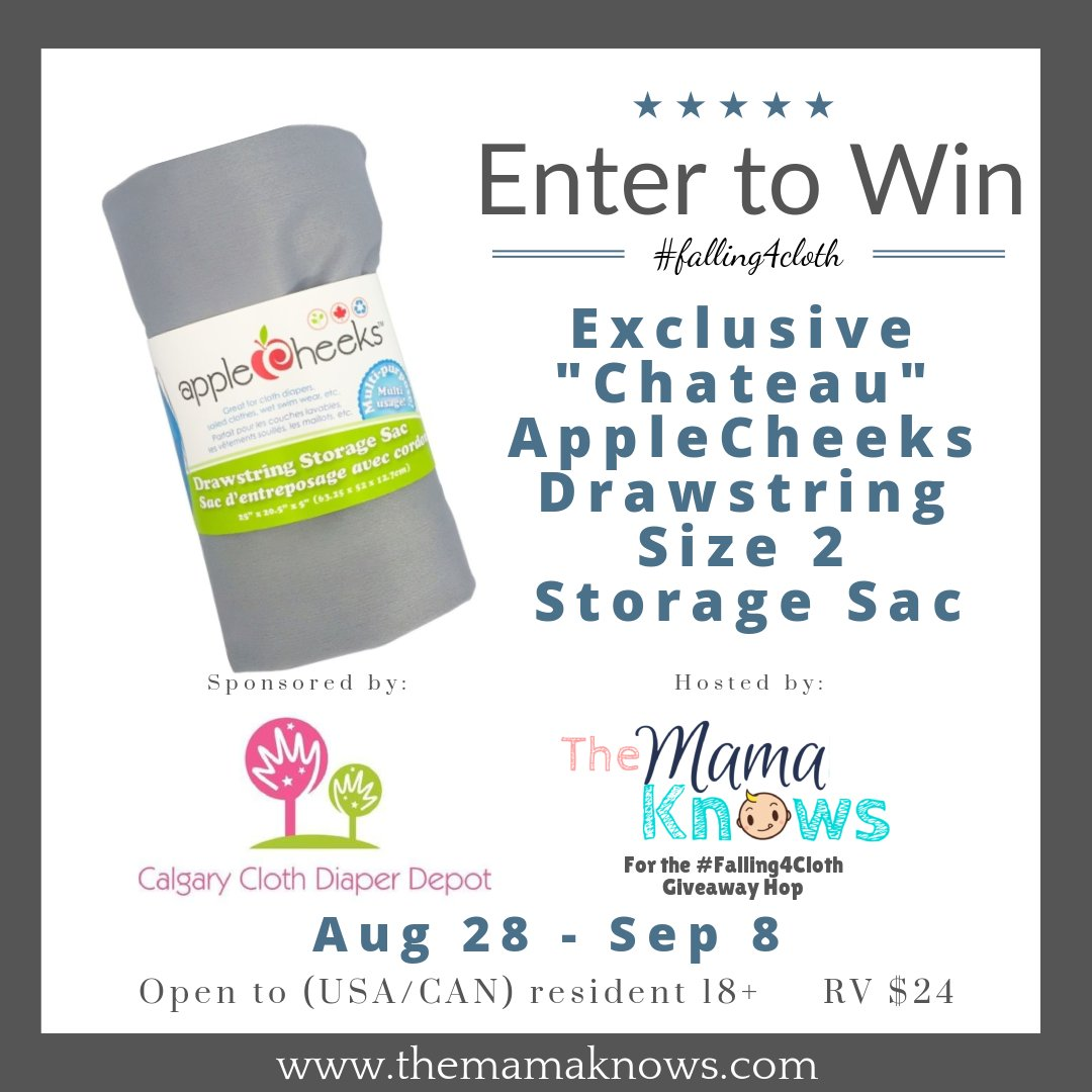 Enter to win an Applecheeks size 2 storage sac