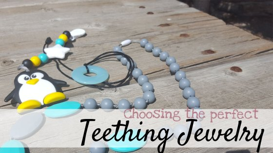 wearable Teethers and teething jewelry