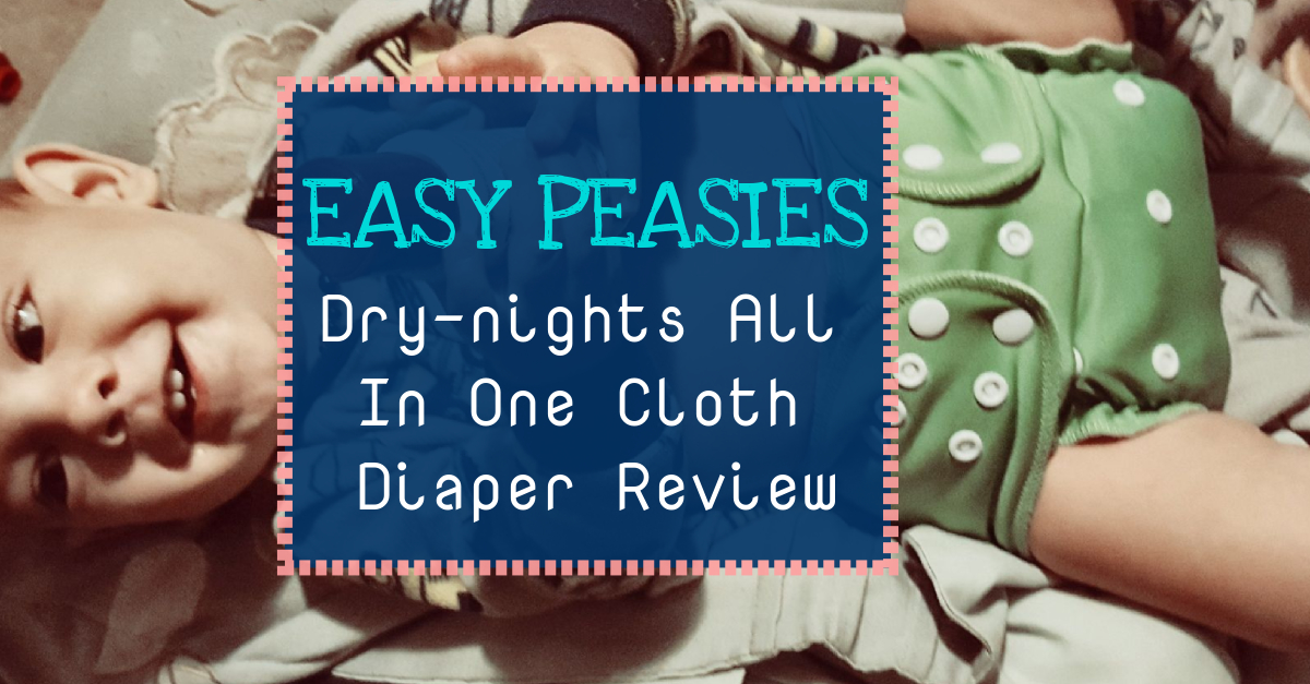Easy Peasies Dry-nights AIO Cloth Diaper Review from The Mama Knows