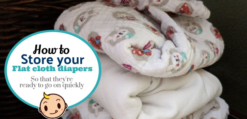 Cloth Diaper Laundry Day: Storing your flat diapers so they are ready to go!
