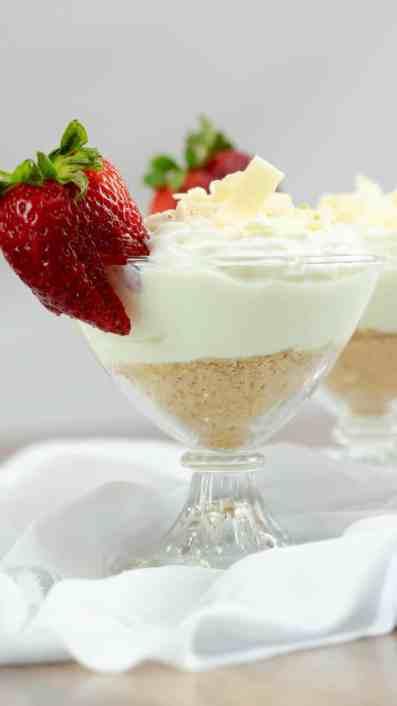 Key Lime Yogurt Parfait Strawberry White Chocolate Whipped Cream