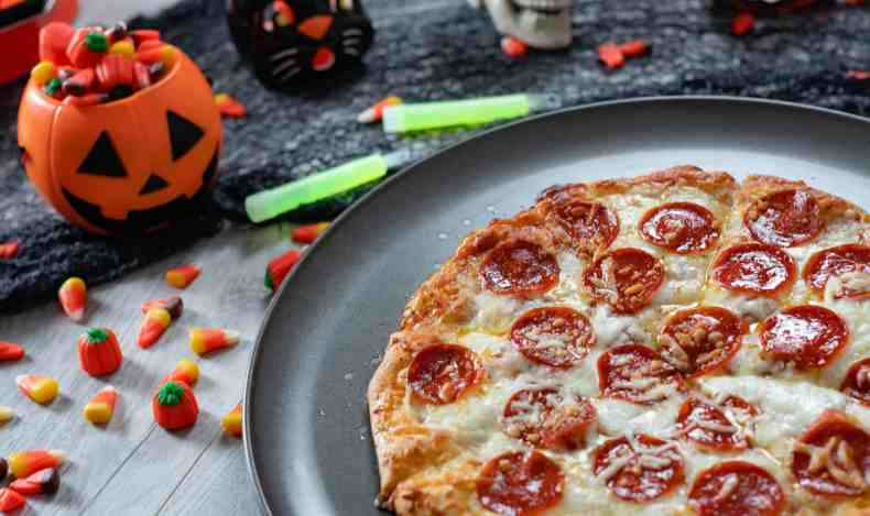 Red Baron Brick Oven Pizza Crust Halloween