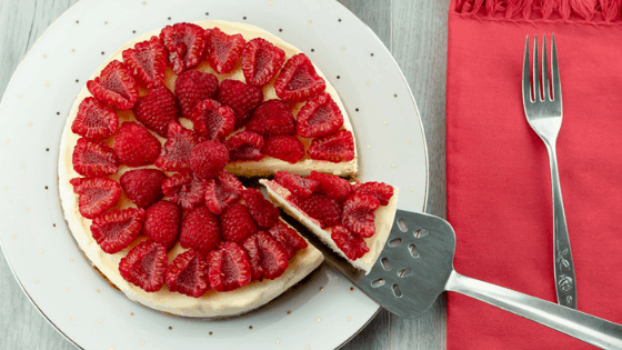 Instant Pot Cheesecake with Raspberry Topping