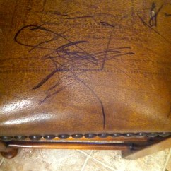 How To Remove Ball Pen Mark From Leather Sofa Loft Bed With And Desk Underneath Permanent Marker Furniture