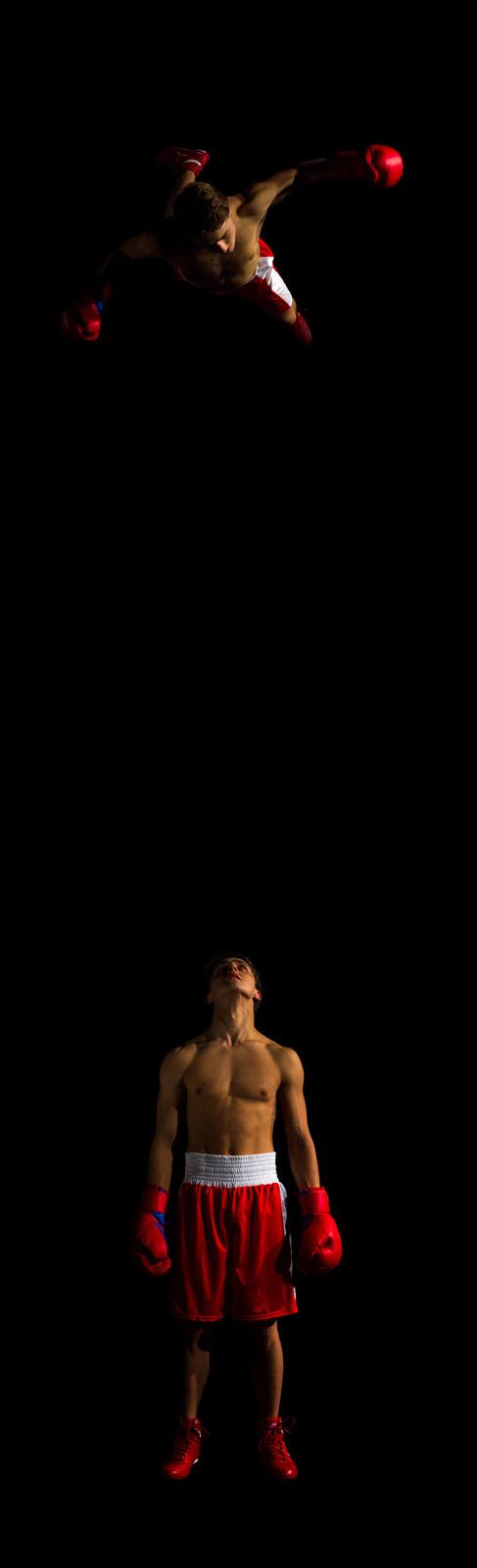 Jacek Ludwig Scarso | The Second is Coming, 2014, dalla serie Macho Messiah Stampa digitale ritoccata a mano su carta Hahnemühle montata su alluminio, 115 x35 cm, ed.5+1 P.d'a. Courtesy ROMBERG Photo