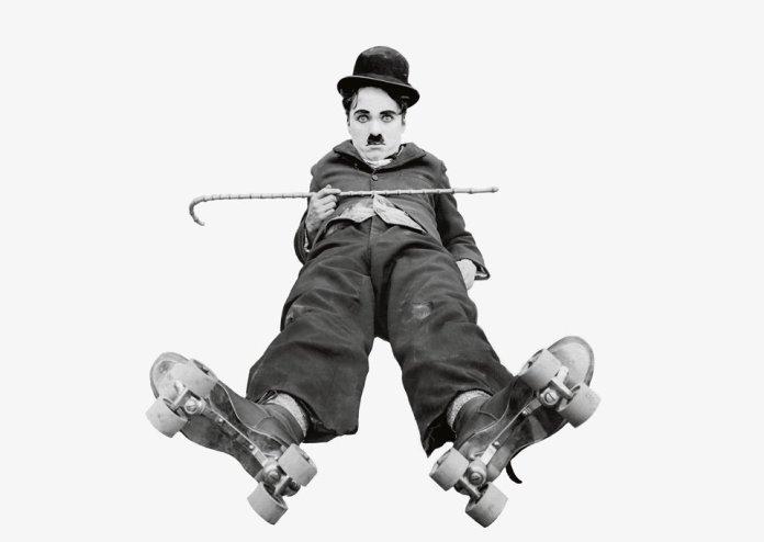 Chaplin nel film Charlot al pattinaggio (1916). © Roy Export Company Establishment.