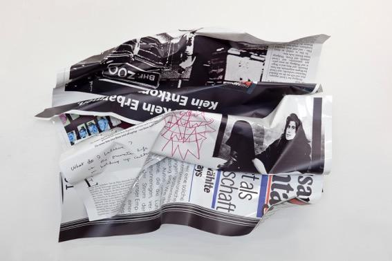 Olaf Metzel Susan Sontag 2011 C-Print su alluminio 180×270×100 cm Collezione Annette e Peter Nobel