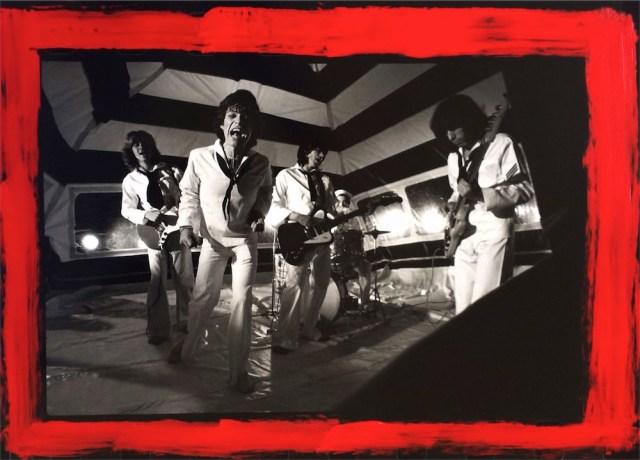 Rolling Stones in Tent, 1974 ©Michael Putland