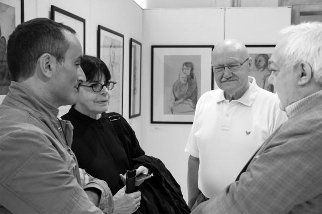 Con Giovanna Calvenzi e Carlo Spaliviero (Premi Friuli Venezia Giulia 2016). A fianco Walter Liva e Danilo Ongaro. © Terry Peterle