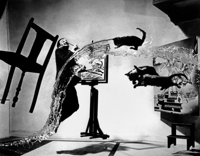 "Copyright: Spanish painter Salvador DALI. ""Dali Atomicus."" 1948 © Philippe Halsman/Magnum Photos."