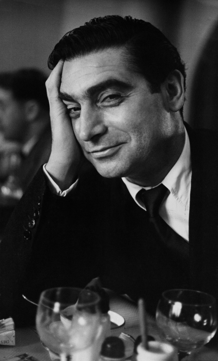 Robert Capa photographed by Ruth Orkin, Paris, 1951 © Ruth Orkin, courtesy Magnum Photos