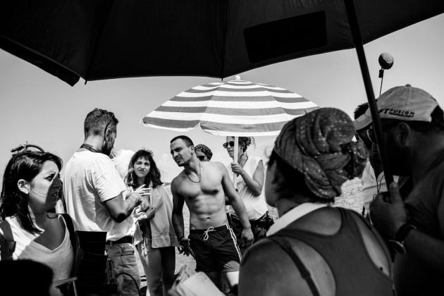 Cuori puri di Roberto De Paolis (2017). Roberto De Paolis, Selene Caramazza e Simone Liberati [ph. Maila Iacovelli e Fabio Zayed]