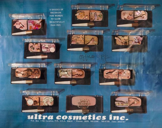 Sarah Cwynar Ultra Cosmetics (Blush 8 Shades of Brush On), Serie: Colour Factory, 2017 © Sarah Cwynar