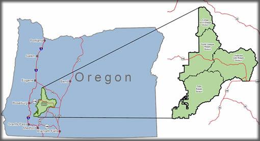 Umpqua National Forest Map - Oregon Forest Service