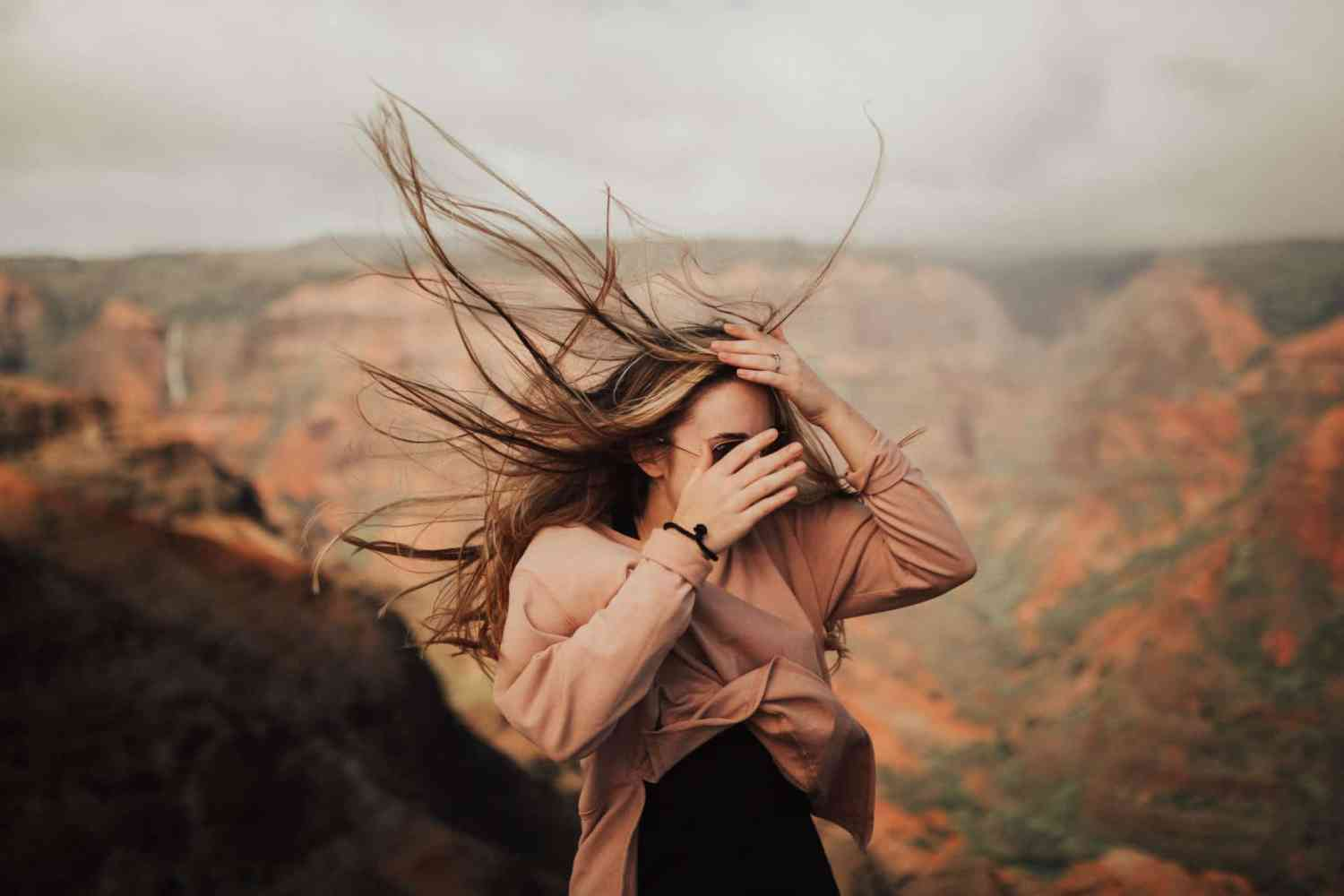 Blowing Hair at Waimea Canyon - Travel Photography Tips