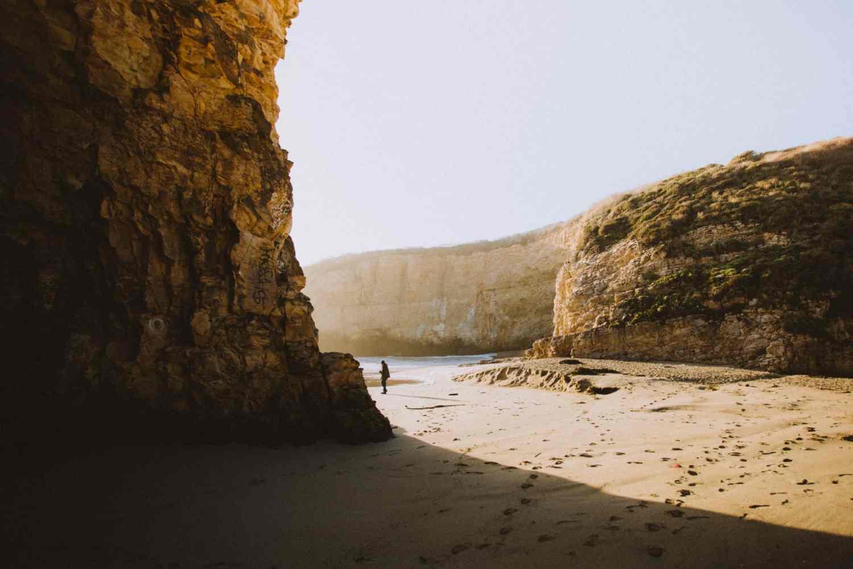 Shark Fin Cove Beach California