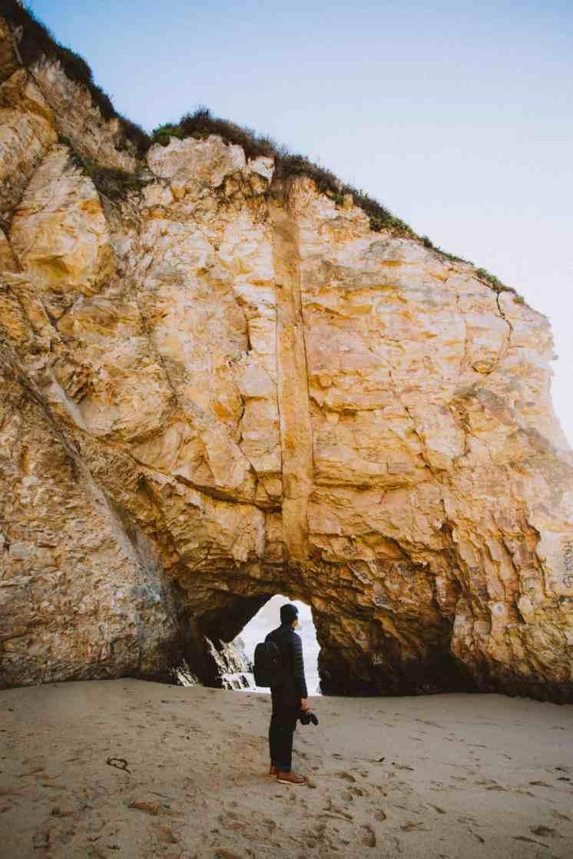 Shark Fin Cove Natural cave