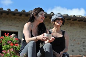 Sabrina and I 4 years ago at my annual Tuscany retreat.