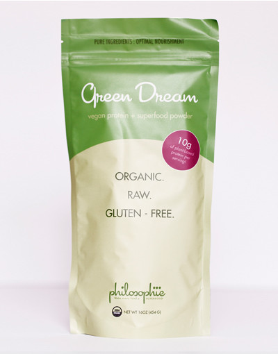 "A detoxifying, weight loss, energizing, strengthening superfood blend. The Green Dream was the first superfood blend I created. ""Green foods"" are one of the least common foods consumed, yet they are the most nutrient-dense and most important! I wanted to find a way to get these incredible foods into your body without compromising flavor or convenience.  Green Dream is high in plant-based protein, so it keeps you full for longer and helps burn fat. Unlike other protein blends on the market, there are no ""fillers"" to extend the blend:  Green Dream uses only superfoods as ingredients, thus providing abundant, concentrated nutrient power with each teaspoon you consume.  Green Dream cleanses as its pure ingredients break down toxins and ushers them from the body. And Green Dream is energizing: it provides a natural, caffeine-free power boost every day as it sets the stage for sustained energy while your body releases old materials and rebuilds with precious new fuel. This blend also supports the body in weight loss, if needed: when your every cell is nourished from the clean protein, good fats, and detoxifying green power it provides, the body gives itself permission to let go of unneeded material.  By feeding your cells only the best, Green Dream makes being healthy and fit easy... like a dream."