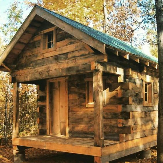 old and weathered cabin