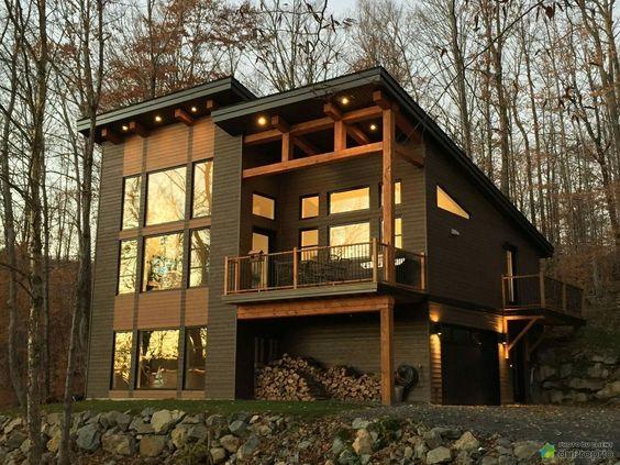 modern cabin exterior