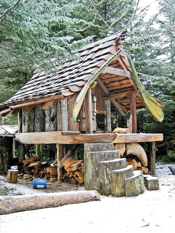 cabin built by hand