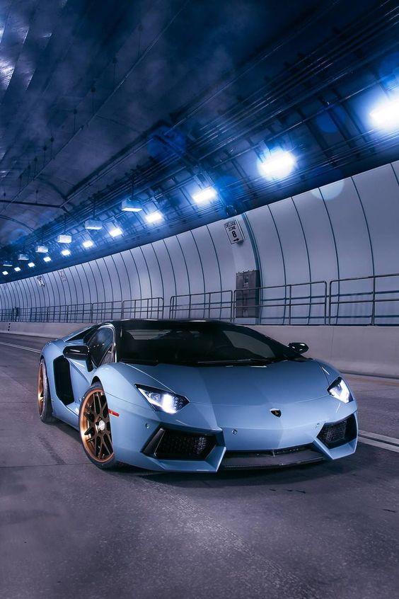 blue supercar