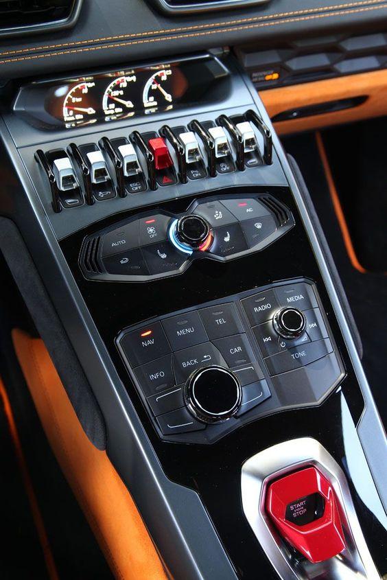 supercar control panel
