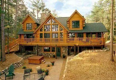 large log home
