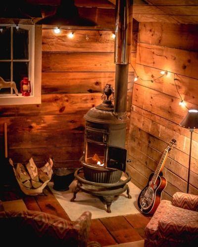 stove inside cabin