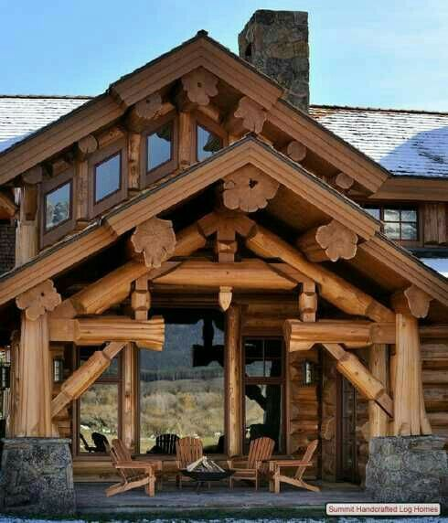 big log cabin