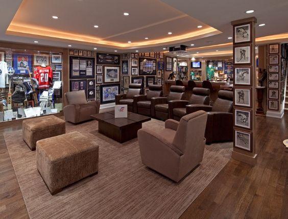 sports collectors room