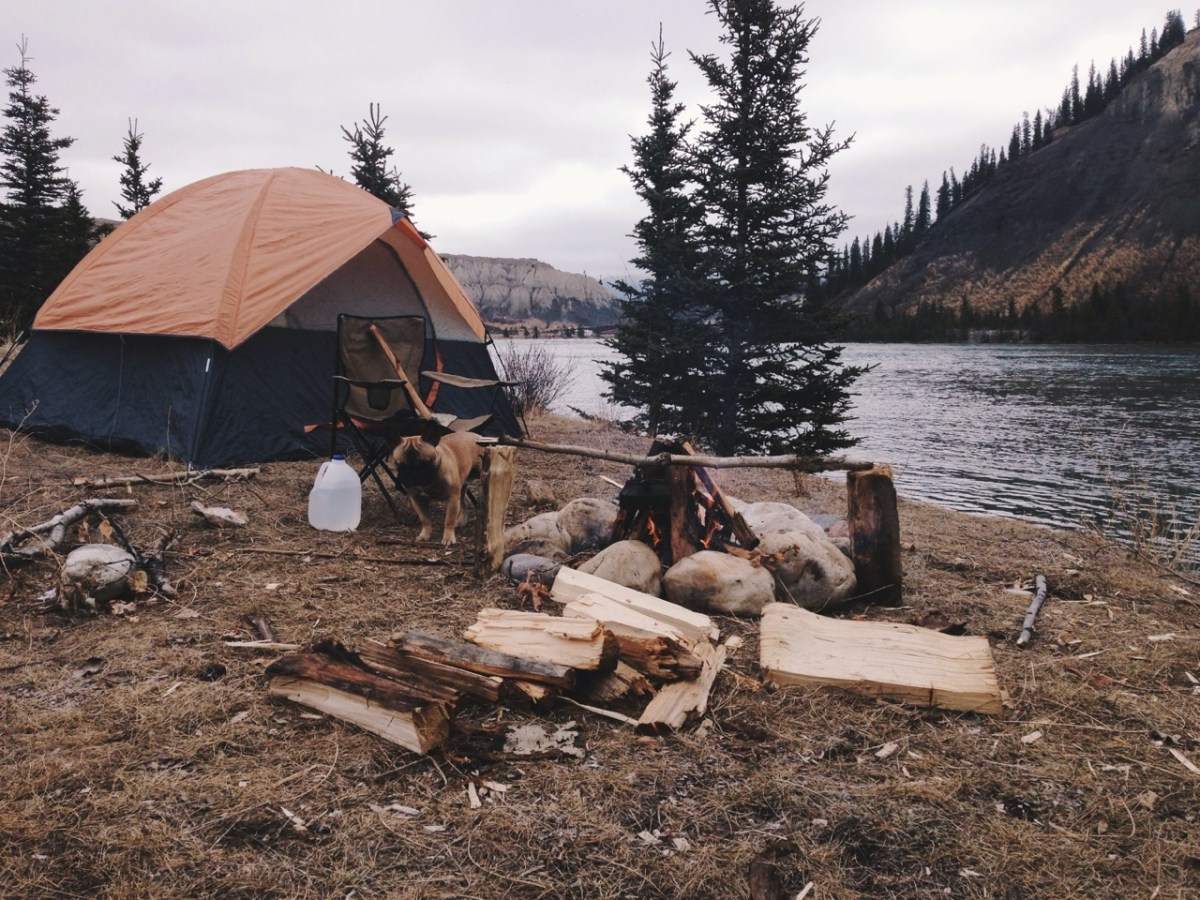 rugged and manly campsite