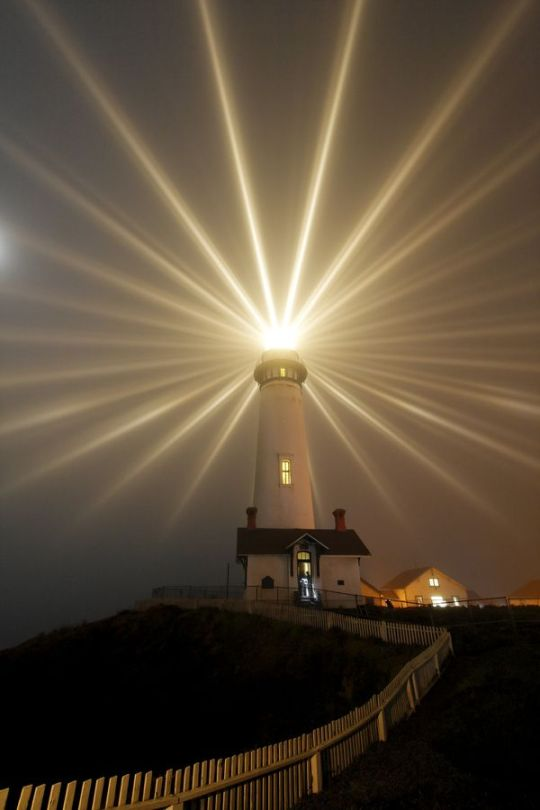 beacon of light from lighthouse
