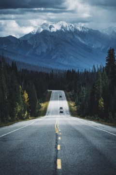 long road to mountains