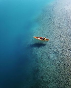 boat on clear water