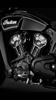 indian motorcycle side motor shot