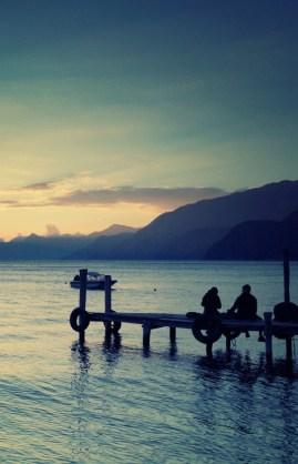 quiet scene at the lake