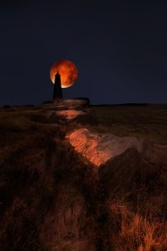 lighthouse moon