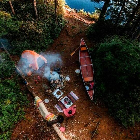 overhead campsite