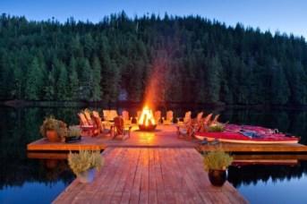 summer lake party