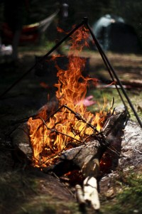 open campfire