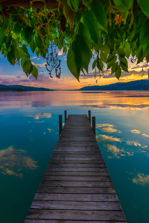 a dock down by the lake