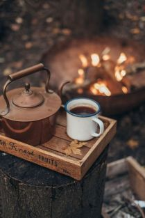 coffee by campfire