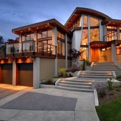 front of modern aspen style home