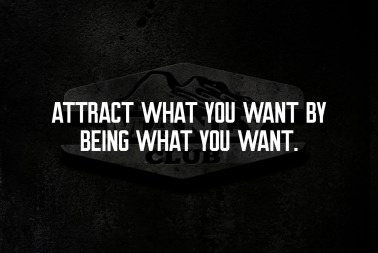 attract what you want by being what you want